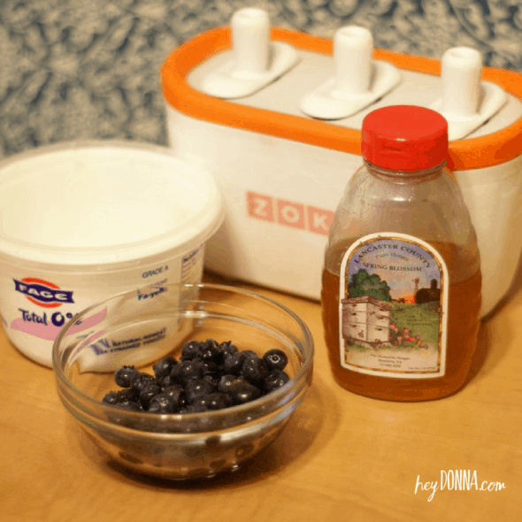 Blueberry Greek Yogurt Popsicle recipe