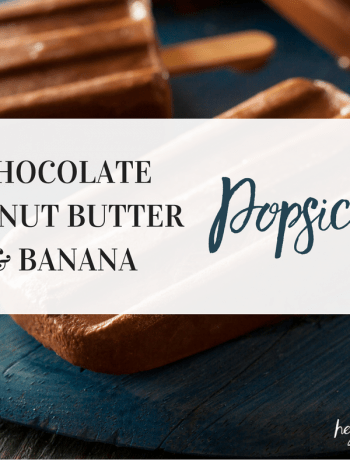 Chocolate Peanut Butter Banana Popsicles feat