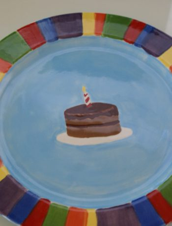 Hand Painted birthday plate