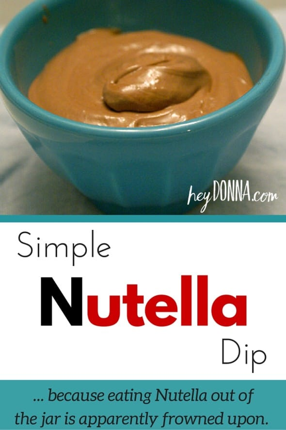 Simple Nutella Dip Recipe