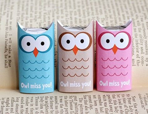 Owl Miss You printable from Lisa Storms