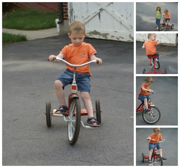 Caleb Riding Tricycle