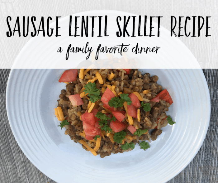 Sausage Lentil Skillet Recipe FI