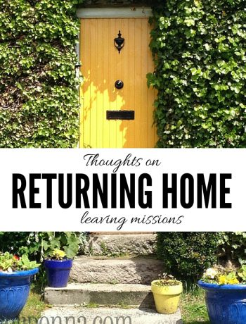 Thoughts on returning home