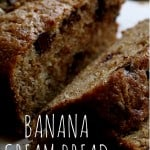 Banana Cream Bread Recipe with Chocolate Chips