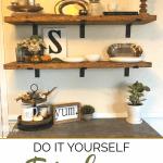 Farmhouse shelves for storage and decor