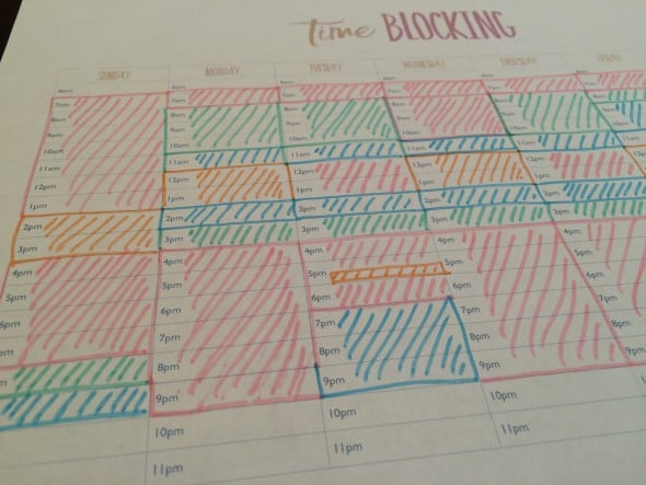 Weekly Time Blocking template