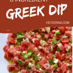 tomato feta and green onion dip