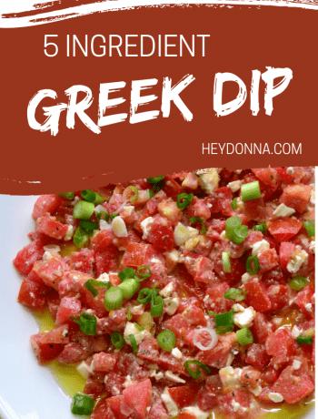 tomato feta and green onion dip