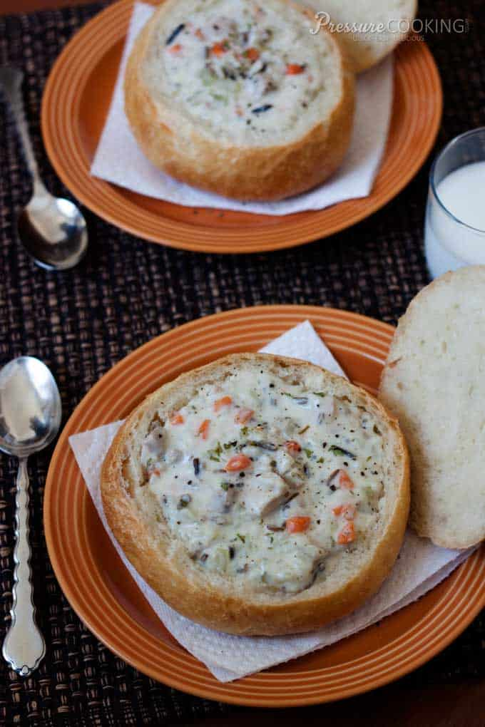 Creamy-Chicken-Wild-Rice-Soup-Instant Pot Recipe