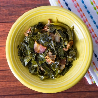 Collard Greens with Bacon Holiday Instant Pot Recipe