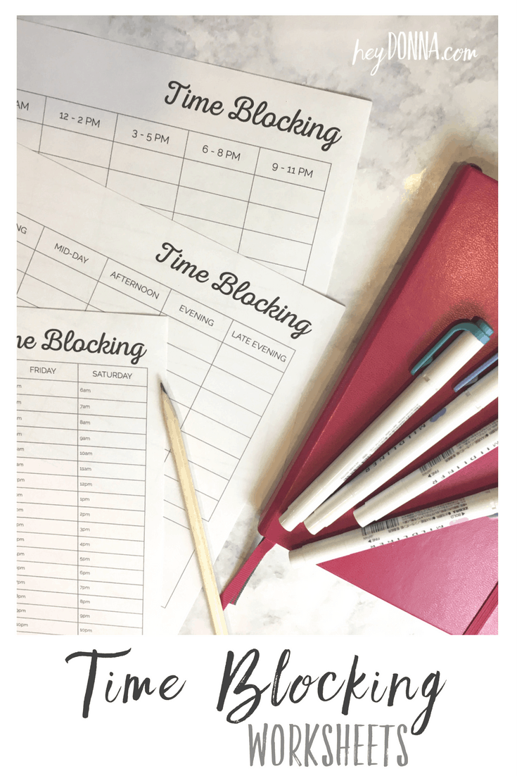 Time Blocking Calendar | HeyDonna.com