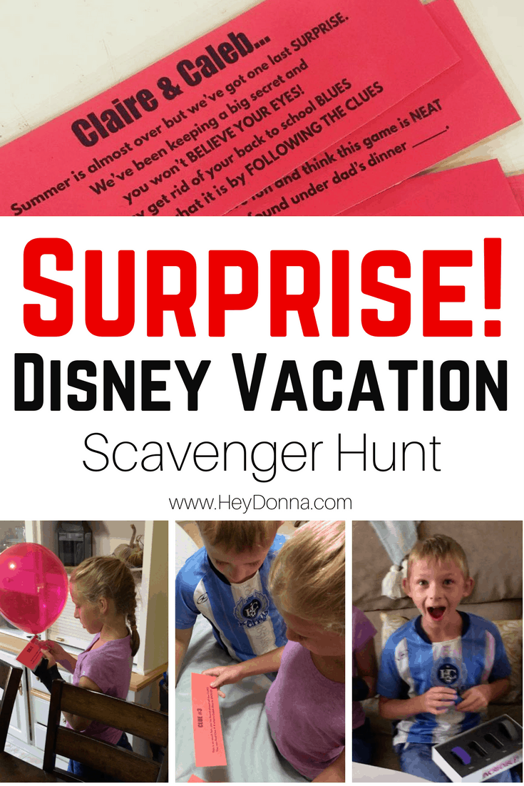 Disney Scavenger Hunt Clues