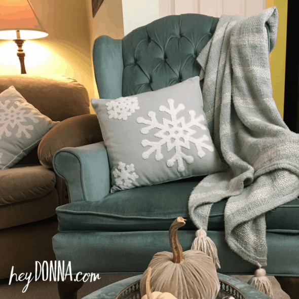 cozy throw and pillow for christmas