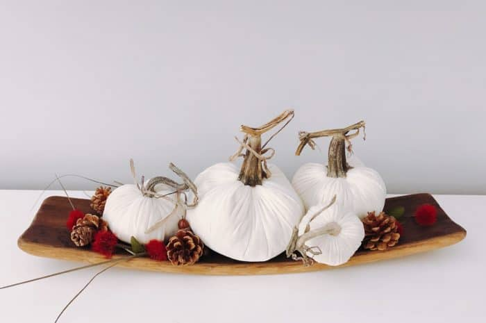 Fall Home Decor Velvet Pumpkins