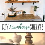 DIY Farmhouse Shelves - Make your own farmhouse inspired shelves for your kitchen