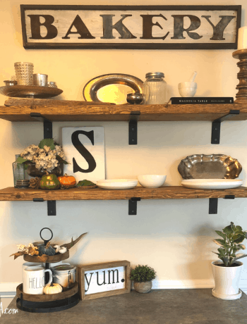 DIY Farmhouse Open Shelves. How to make your own open shelves.