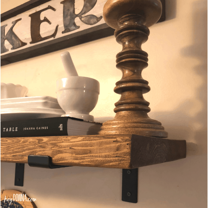 Farmhouse Shelves DIY
