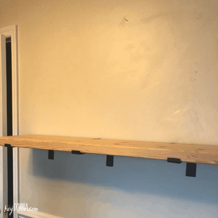 Installing Open Shelves