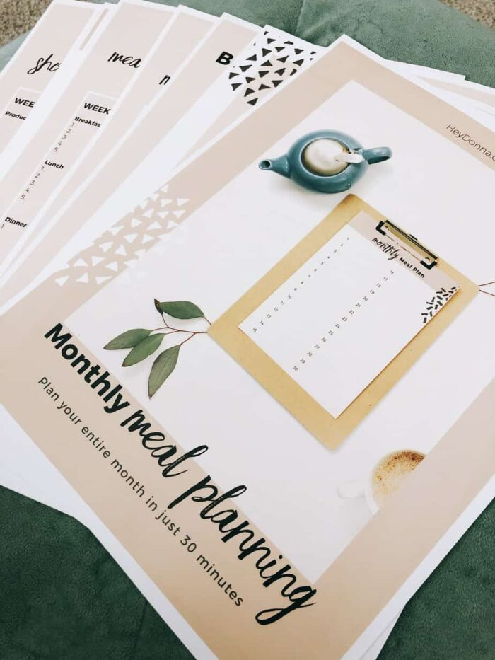 Monthly Meal Planning Workbook