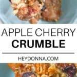 apple cherry crumble recipe