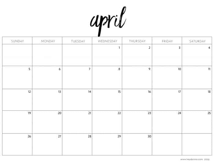 Printable 2020 Monthly Calendar.2020 Free Printable Calendar Templates Hey Donna