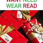 gifts with want need wear read tags - 4 Christmas gifts
