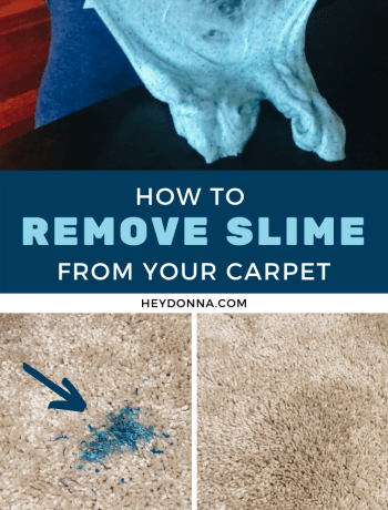 getting slime off carpet