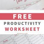 Time blocking worksheets