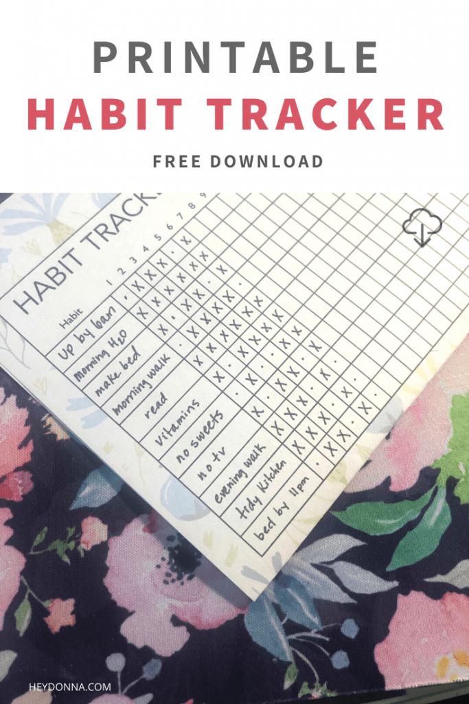 Printable Habit Tracker for your bullet journal