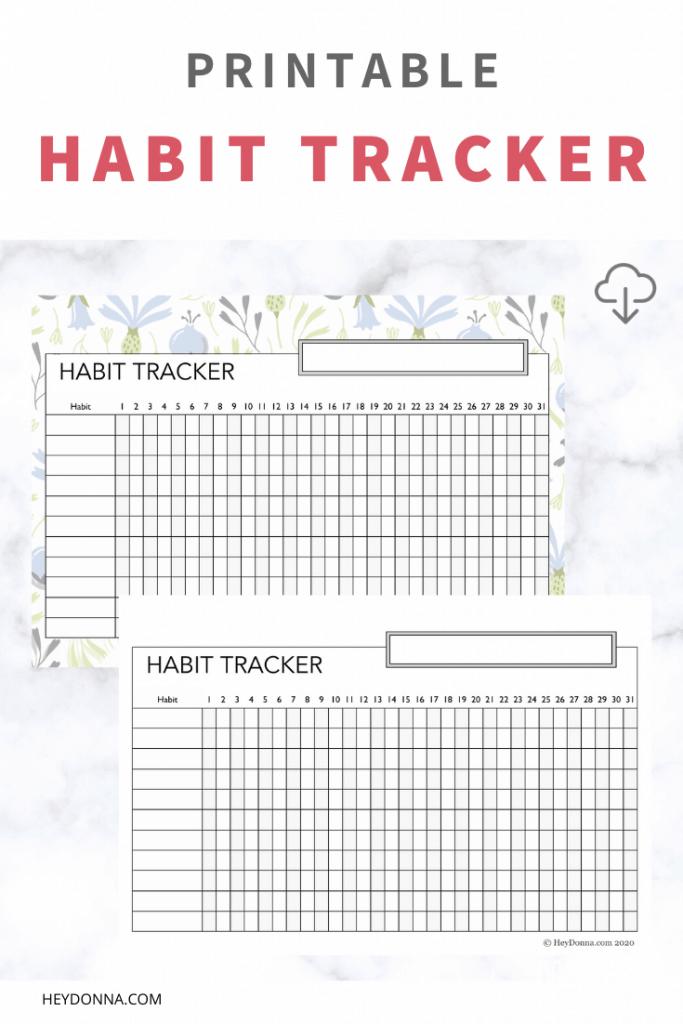 Habit Tracker to Print