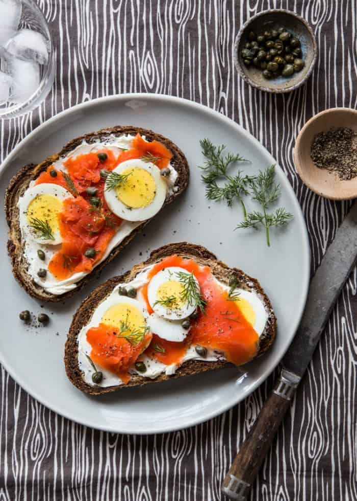 Recipes for Leftover Hard-boiled Eggs Smoked Salmon Toast