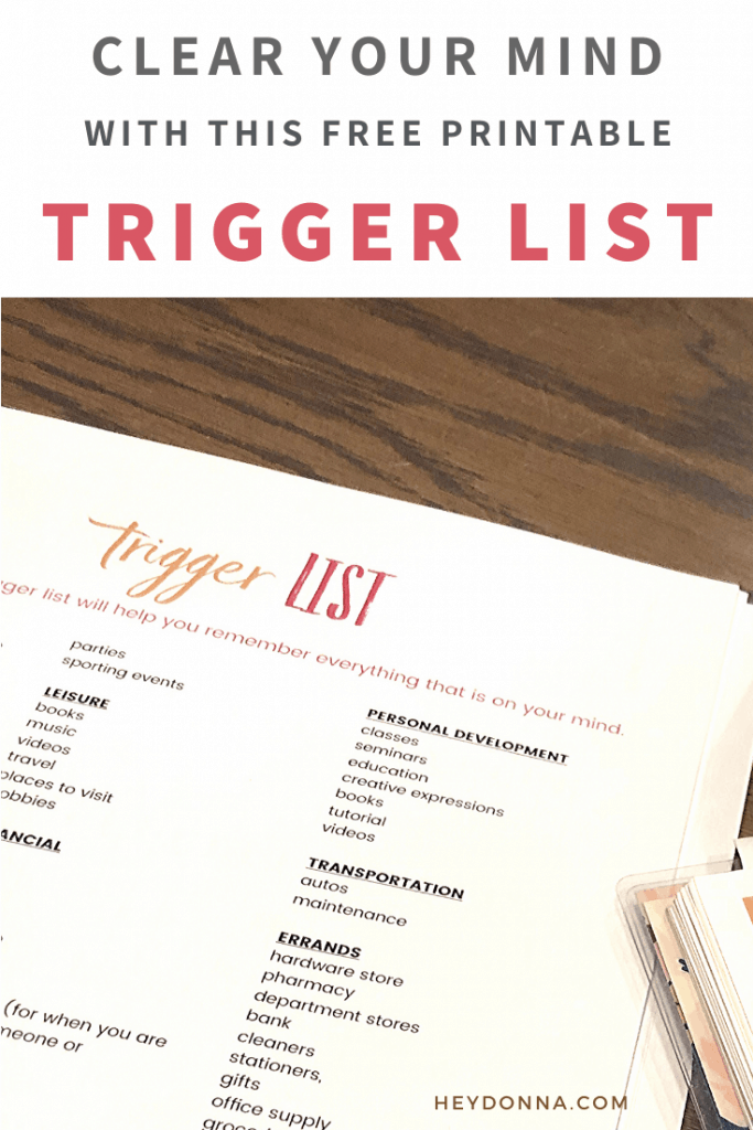 Brain Dump Trigger List