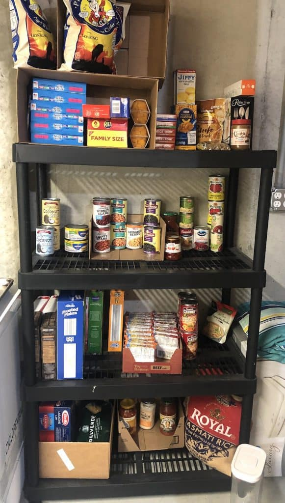 Food Stockpile on shelves