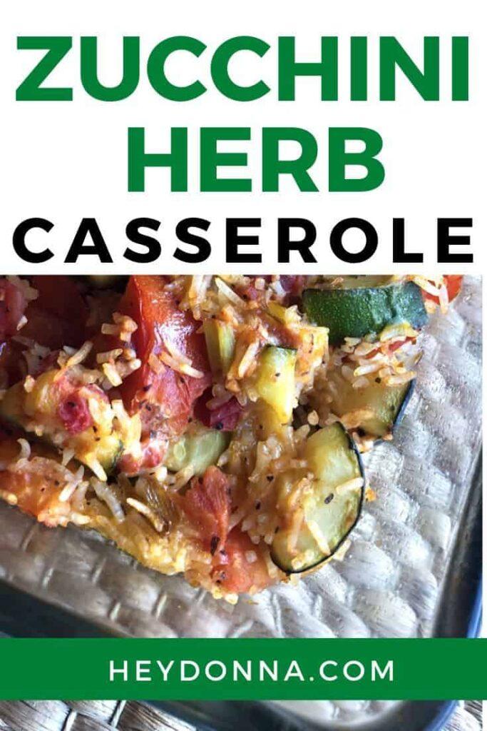 zucchini tomato rice casserole