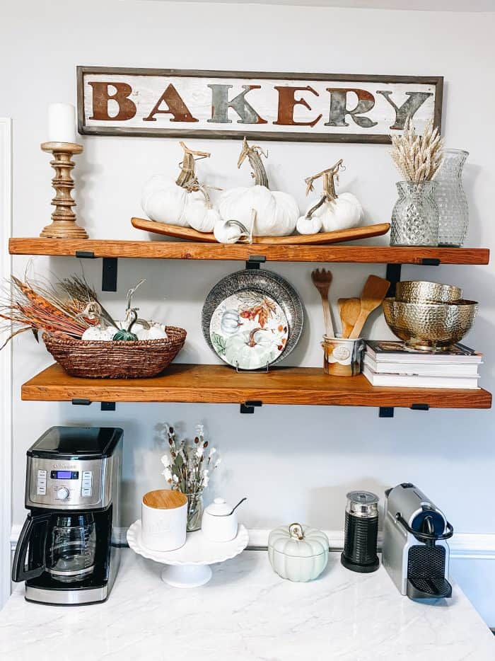 Fall Farmhouse Shelves - from Hey Donna