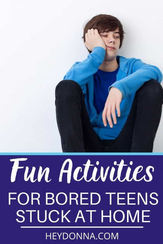bored teen sitting - Activities for teens