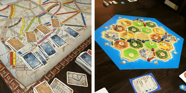 board games for teens - Settlers of Catan and Ticket to ride