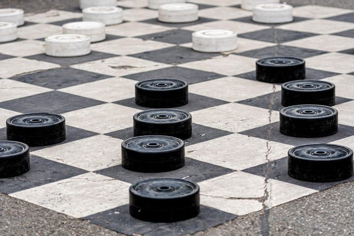 GIant Checker Set - A great Backyard Activity for Kids
