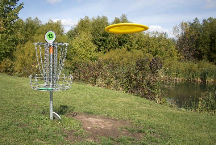 Frisbee Golf Backyard Activity for Kids