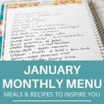 monthly meal plan with recipe ideas