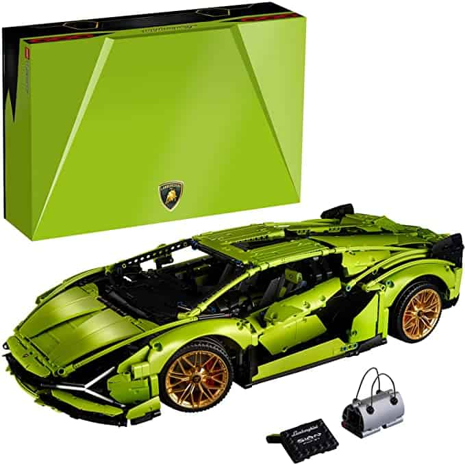 fancy green lego car for teens or adults