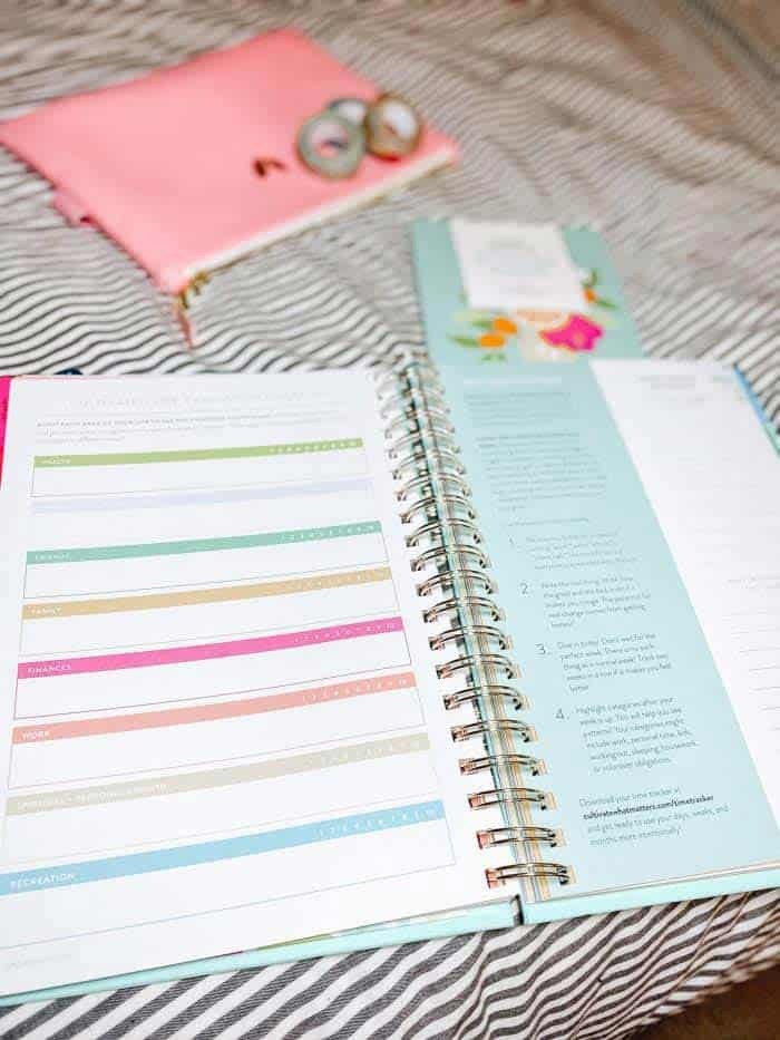 Cultivate What Matters PowerSheets Goal Planning Inside Pages - Review page