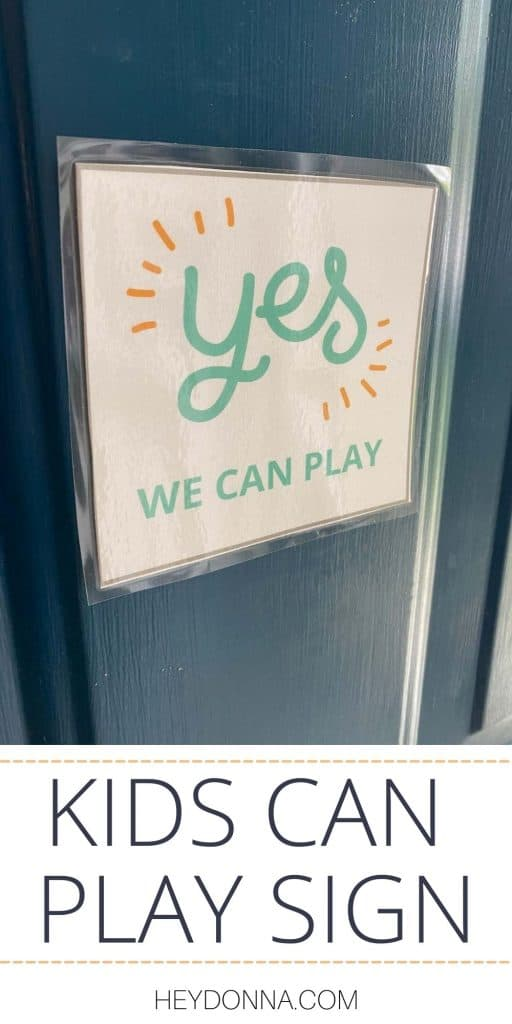 Sorry we can't play sign for front door