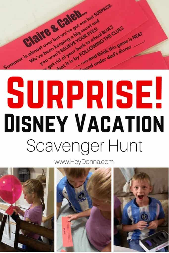 Disney Scavenger Hunt Clues