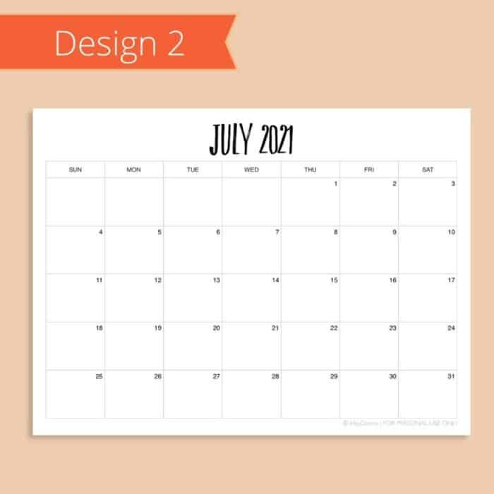 2021-2022 Academic Calendar Template