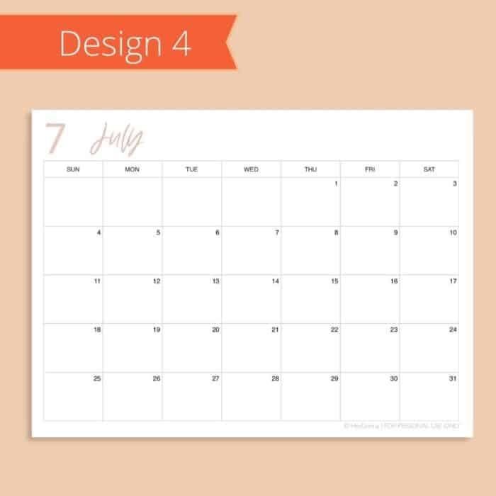 2021-2022 Calendar Template