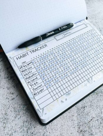 Habit tracker for your bullet journal