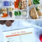 Lunch Box Ideas for Kids with Printable