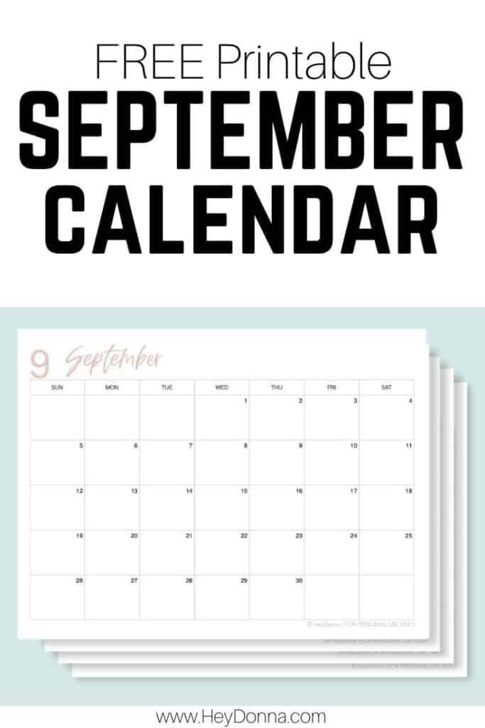 Printable September 2021 Monthly Calendar